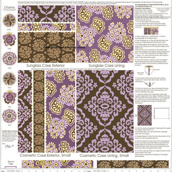 Lila Tueller for Riley Blake - Fiona's Fancy Laminate Panel In Orchid