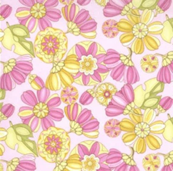 Lila Tueller for MOda - Eden - Dahlia Dreams in Petal Pink - 1/2 Yard - Cotton Fabric