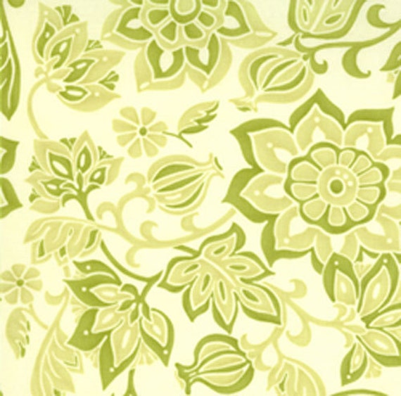 Lila Tueller for MOda - Eden - Eve's Garden in Foliage Green - 1/2 Yard - Cotton Fabric