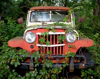 Vintage Jeep Willy's SUMMER 9x12