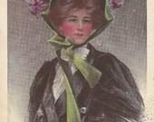 "Vintage ""Yesterday"" Postcard Artist Signed Philip Boileau"