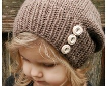 Knitting PATTERN-The Raevyn Slouchy (Toddler, Child, Adult sizes)
