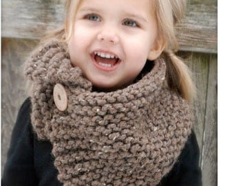 Knitting PATTERN-The Boston Cowl (Toddler, Child, Adult sizes)
