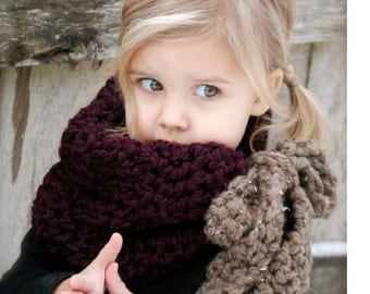 Crochet PATTERN-The Vienna Cowl (Adult,Child sizes)