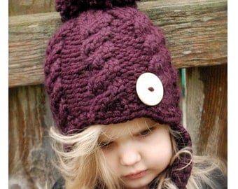 Knitting PATTERN-The Roxie Hat (12/18 months, Toddler, Child, Adult sizes)