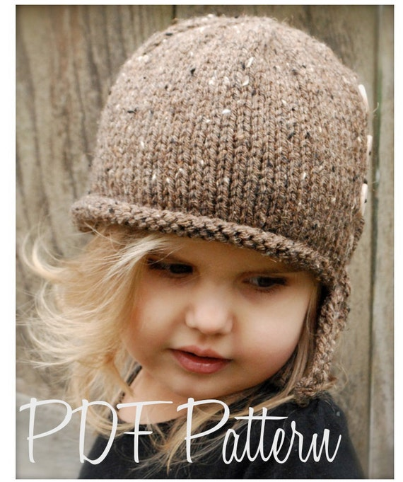 Knitting PATTERN-The Iviy Cloche' (Toddler, Child, Adult sizes)