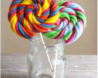 Felt Food Swirly Lollipops