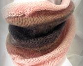Hand Knit Simplistic Elegance Rose Cowl
