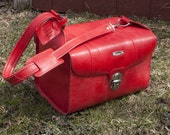 Vintage Red Samsonite Travel Bag