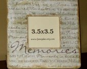 SALE   Memories Wooden Frame Aged Distressed Antiqued