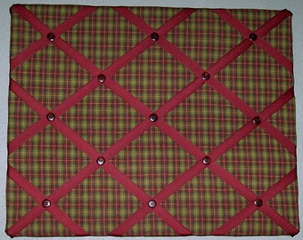 Fabric Memory Board 16 x 20  Farm Kitchen
