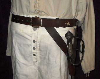 The Henry Every Leather Pirate Sword Belt