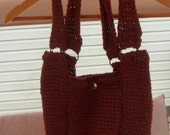 Tunisian Stitch Wool Tote- RESERVED BNRBUZZED RAFFLE