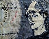 Bank of Britain Linen Tea Towel