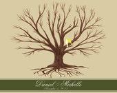 Customized Wedding Thumbprint Family Tree
