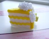 Lemon Cake Felt Hair Clip