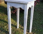 Side Table Very Pretty Handcrafted Shabby White