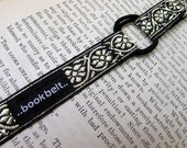 Classic Bookmark  Wrap around BookBelt BookMark. In gold on black brocade.