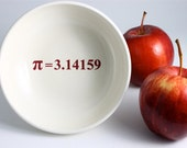 Pi Math Bowl - White and Red