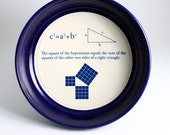 Math - Pythagorean Theorem Geometry Bowl in Midnight Blue