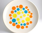 Polka Dot Bowl - Orange, Yellow and Turquoise Spotted Bowl