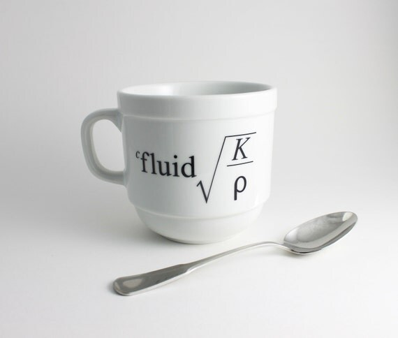 Physics Equation Coffee Mug in Black and White
