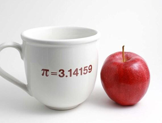 Pi Math Mug - 3.14 Red and White Coffee Mug with Pi