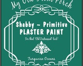 Turquoise Oceans PLASTER PAINT dries with a chalk like finish-1 PINT-Furniture Paint-Shabby Chic Style-Primitive-Distressing Paint