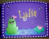 Children's Personalized Frog Lap Tray