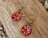 Hand painted Middle Eastern bead earrings