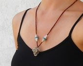 Rosewood prayer beads, Tibetan capped genuine turquoise and Hand made pendant of the Tibetan Money Frog necklace