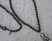 success & strength - Ganesh ebony wood rosary