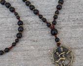 eternal energy - Genuine ebony and rosewood with pendant of Natraj - yoga jewelry