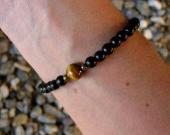 p r o s p e r i t y - Ebony wood and Tiger's eye mala bracelet