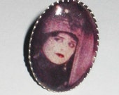 The Vampire: Silent Film Screenshot Resin Ring of Theda Bara from 1915 Film A Fool There Was