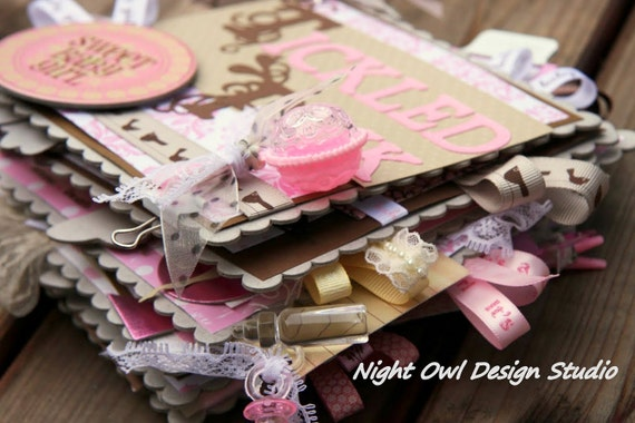 SALE 25% off Baby Girl Chipboard Album - A Perfect Gift