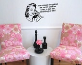 Custom Retro Sassy Quote Wall Decal with Image