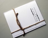 Personalized Stationery -- E L E A N O R : Custom Stationery Set of Notes and Envelopes in White- CHOOSE your QUANTITY