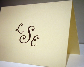Personalized Stationery -- The Pearls -- Monogrammed Stationery Set - CHOOSE your QUANTITY