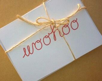 WOO HOO -- Congrats! -- Card and Envelope Set -- Celebration/Graduation