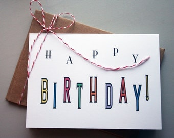 Happy Birthday -- Card/Envelope Set