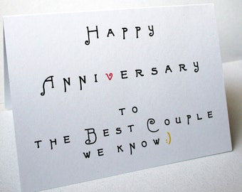 The Anniversary -- Happy Anniversary Card & Envelope