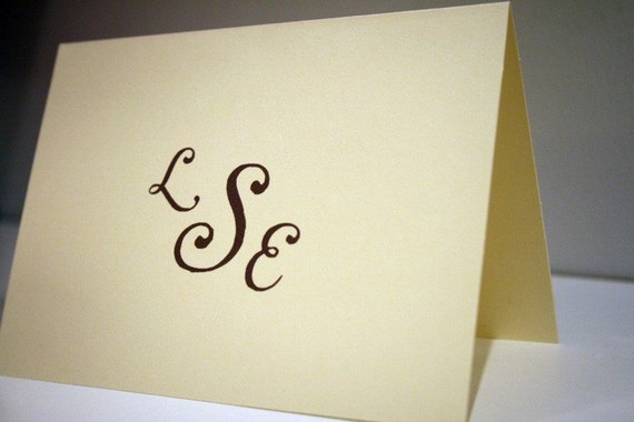 Personalized Stationery -- The Ladies' Pearls -- Monogrammed Stationery Set - CHOOSE your QUANTITY