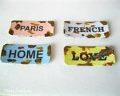 country signs for dollhouse - 12th scale - vintage