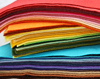 50 Sheets 12 x 12 in. - Wool Blend Felt Squares - Your Choice of Colors