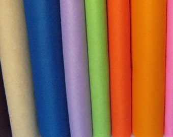 4 Yards Wool Blend Felt - Your Choice of Colors