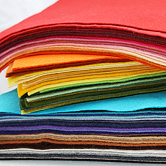 30 Sheets 12 x 12 in. - Wool Blend Felt Squares - Your Choice of Colors