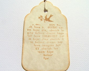 100 Wedding Wish Tags Wedding Tags Wedding Gift Tags: Heart Tags Love Bird Gift Tags