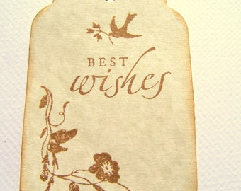 50 Wedding Wish Tags Best Wishes Wedding Tags Wedding Gift Tags:  Bird Gift Tags