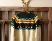 Vintage Winter Soft / Nordic Preppy Knit Sweater / Size M